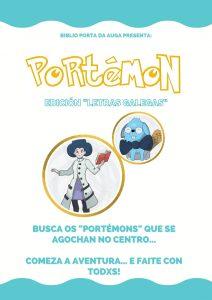 """CARTEL """"PORTÉMON: EDICIÓN LETRAS GALEGAS"""""""